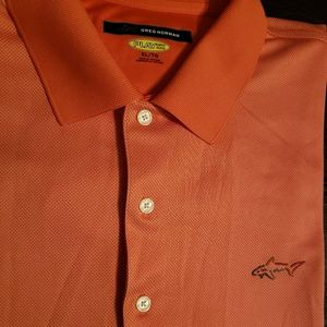 Greg Norman Orange Play Dry Polo. Size XLT